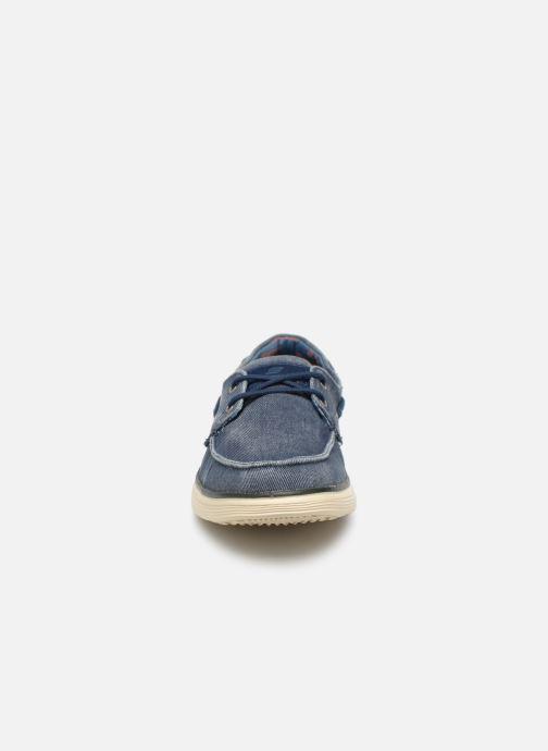 Zapatos con cordones Skechers Status 2.0 Lorano Azul vista del modelo