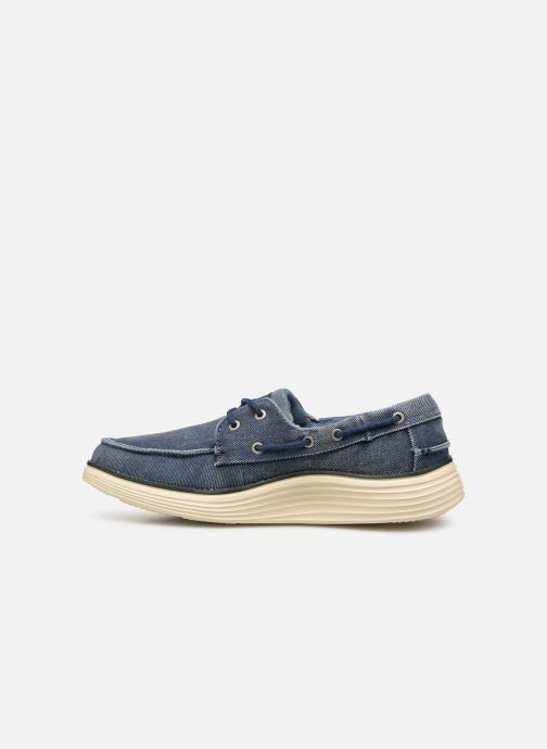Zapatos con cordones Skechers Status 2.0 Lorano Azul vista de frente