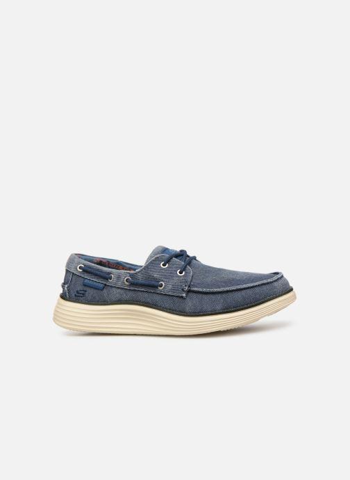 Zapatos con cordones Skechers Status 2.0 Lorano Azul vistra trasera