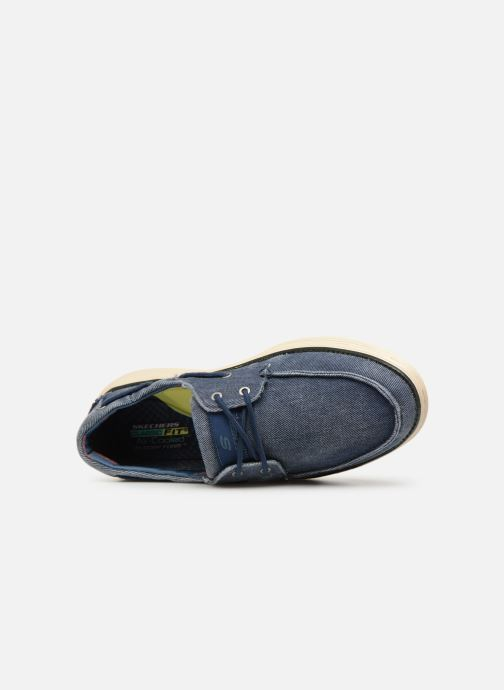 Lace-up shoes Skechers Status 2.0 Lorano Blue view from the left