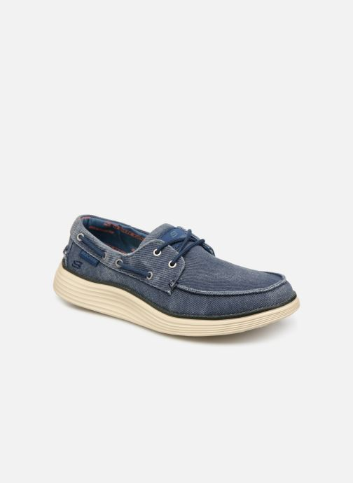 Lace-up shoes Skechers Status 2.0 Lorano Blue detailed view/ Pair view