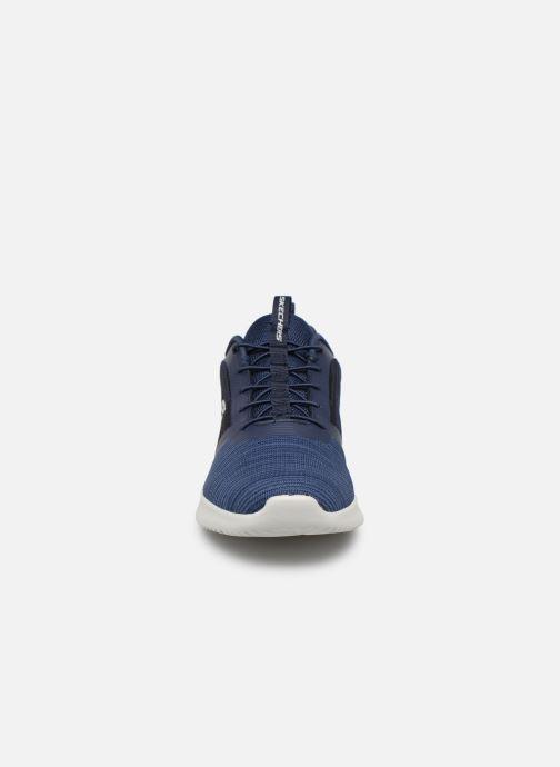 Sneaker Skechers Bounder blau schuhe getragen