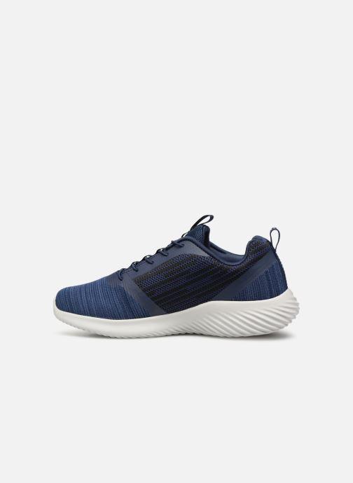 Sneaker Skechers Bounder blau ansicht von vorne