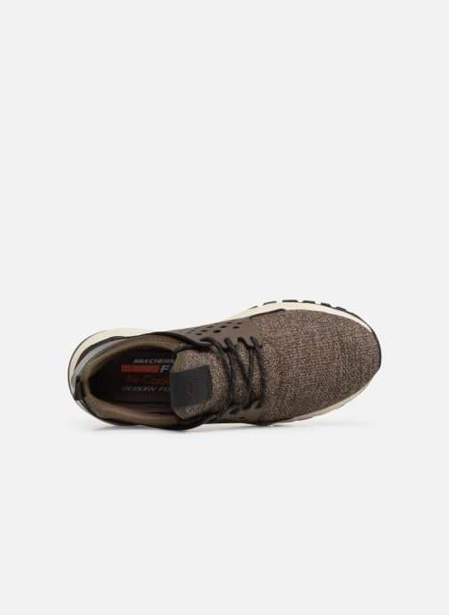 Trainers Skechers Relven Velton Brown view from the left