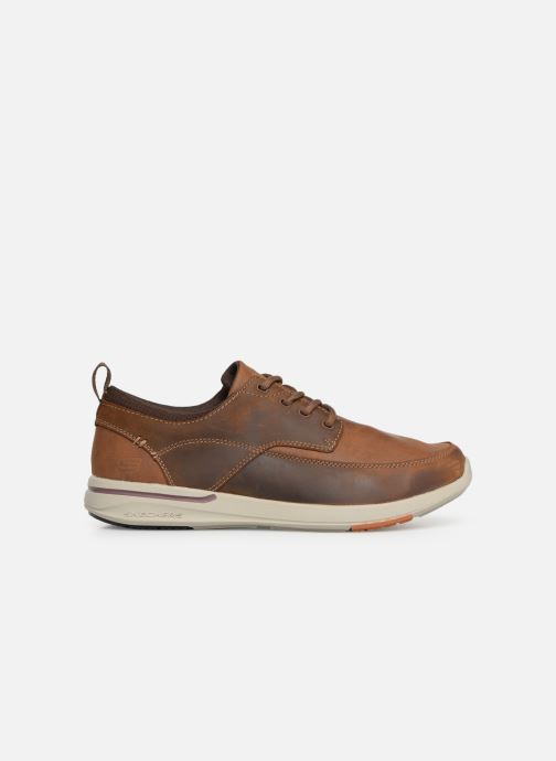 Trainers Skechers Elent Leven Brown back view
