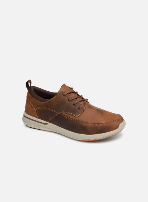 Sneakers Skechers Elent Leven Bruin detail