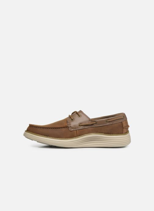 Lace-up shoes Skechers Status 2.0 Former Brown front view