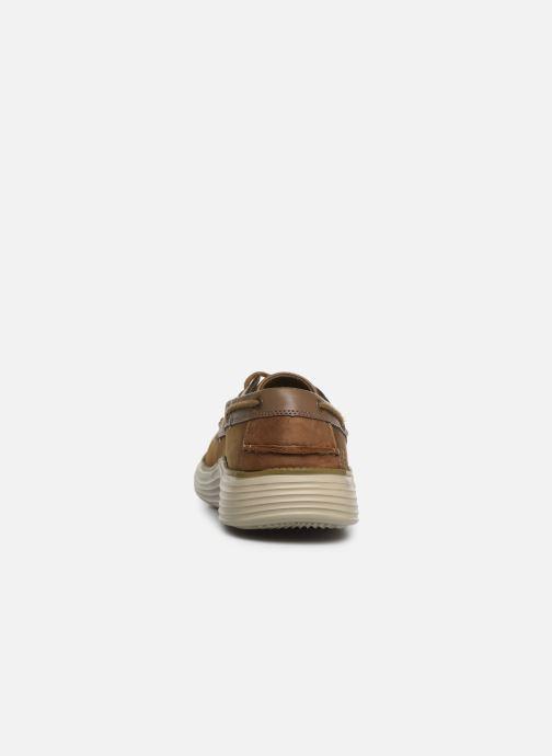 Zapatos con cordones Skechers Status 2.0 Former Marrón vista lateral derecha