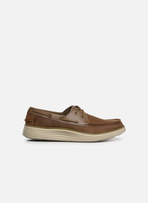 Lace-up shoes Skechers Status 2.0 Former Brown back view