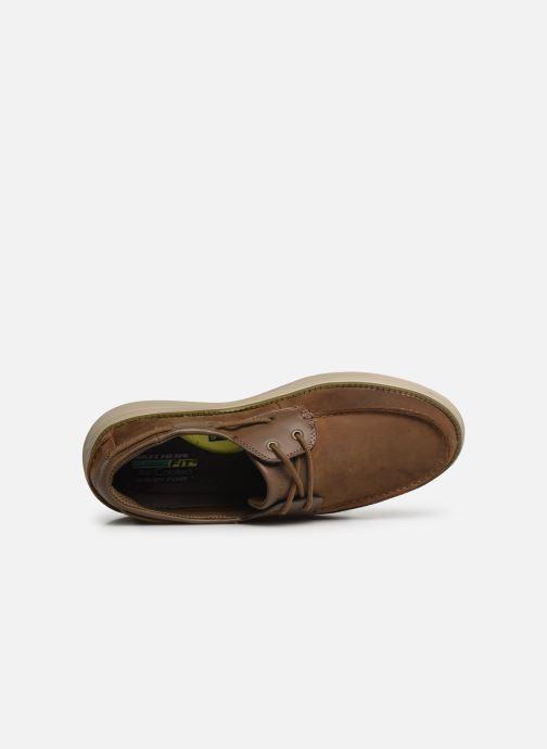 Zapatos con cordones Skechers Status 2.0 Former Marrón vista lateral izquierda