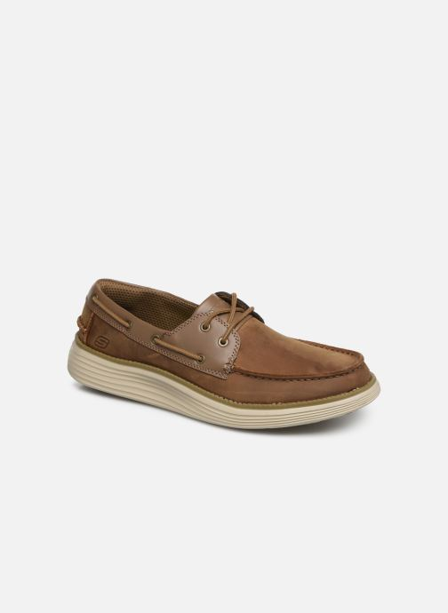 Lace-up shoes Skechers Status 2.0 Former Brown detailed view/ Pair view