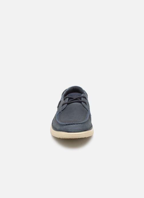 Chaussures à lacets Skechers Status 2.0 Former Bleu vue portées chaussures