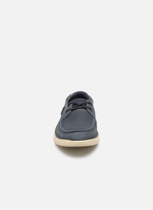 Lace-up shoes Skechers Status 2.0 Former Blue model view