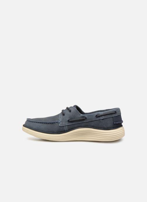 Chaussures à lacets Skechers Status 2.0 Former Bleu vue face