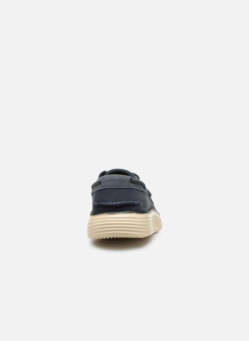 Zapatos con cordones Skechers Status 2.0 Former Azul vista lateral derecha