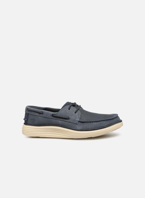 Zapatos con cordones Skechers Status 2.0 Former Azul vistra trasera