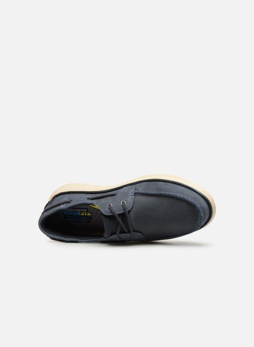 Zapatos con cordones Skechers Status 2.0 Former Azul vista lateral izquierda