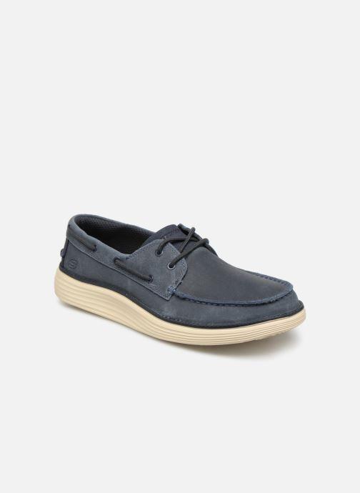 Zapatos con cordones Skechers Status 2.0 Former Azul vista de detalle / par