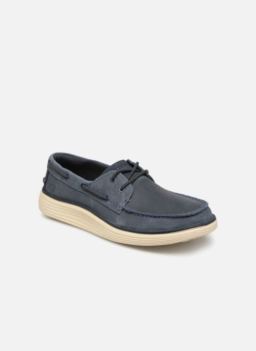 Chaussures à lacets Skechers Status 2.0 Former Bleu vue détail/paire