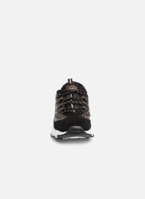 Sneaker Skechers D'lites Glamour Feels schwarz schuhe getragen