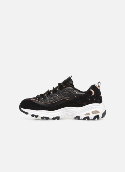 Sneaker Skechers D'lites Glamour Feels schwarz ansicht von vorne