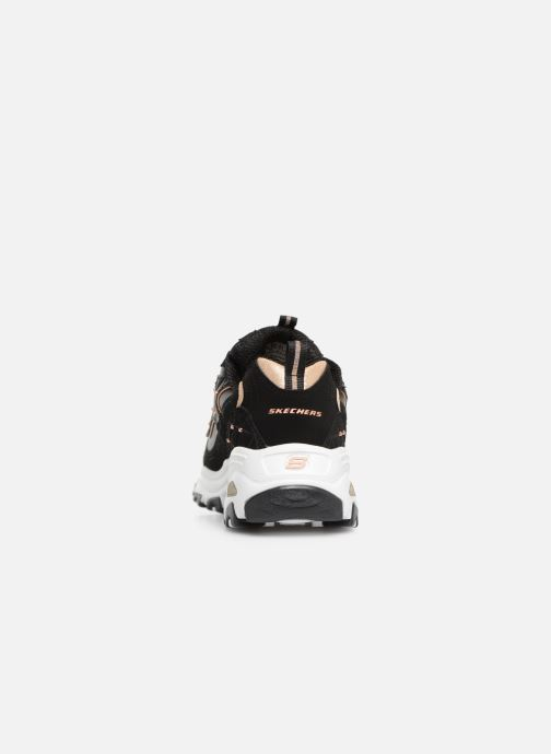 Sneaker Skechers D'lites Glamour Feels schwarz ansicht von rechts