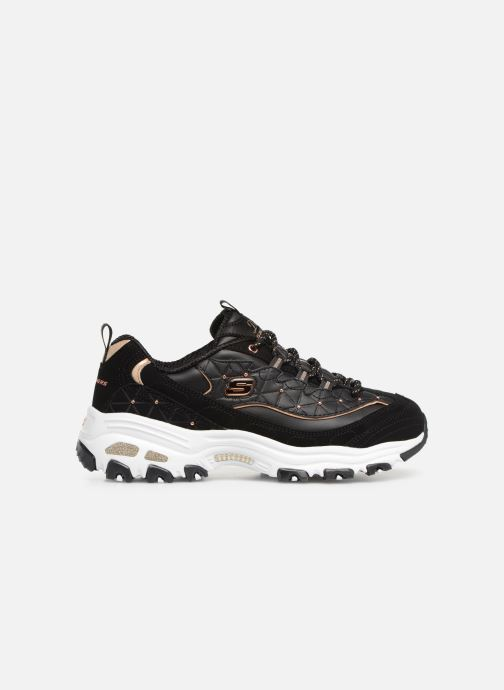 Trainers Skechers D'lites Glamour Feels Black back view