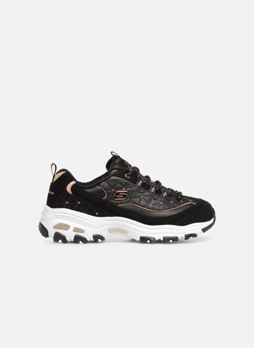 Sneaker Skechers D'lites Glamour Feels schwarz ansicht von hinten