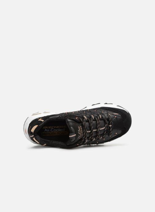 Sneaker Skechers D'lites Glamour Feels schwarz ansicht von links