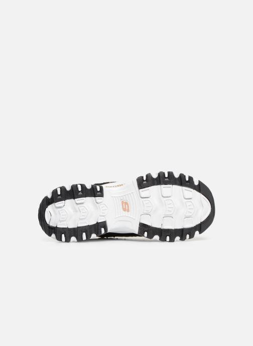 Sneaker Skechers D'lites Glamour Feels schwarz ansicht von oben