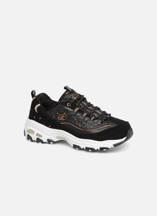 Sneaker Skechers D'lites Glamour Feels schwarz detaillierte ansicht/modell