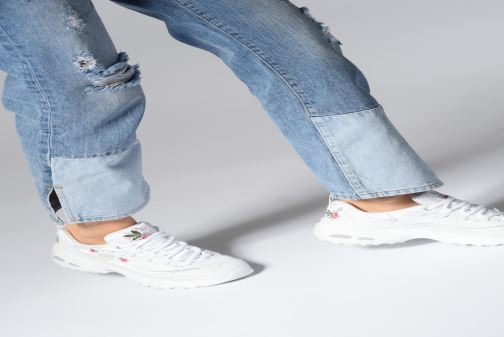 Sneakers Skechers D'Lites Bright Blossoms Rosa immagine dal basso