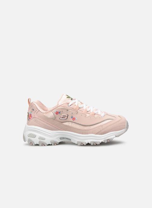 Sneakers Skechers D'Lites Bright Blossoms Rosa immagine posteriore