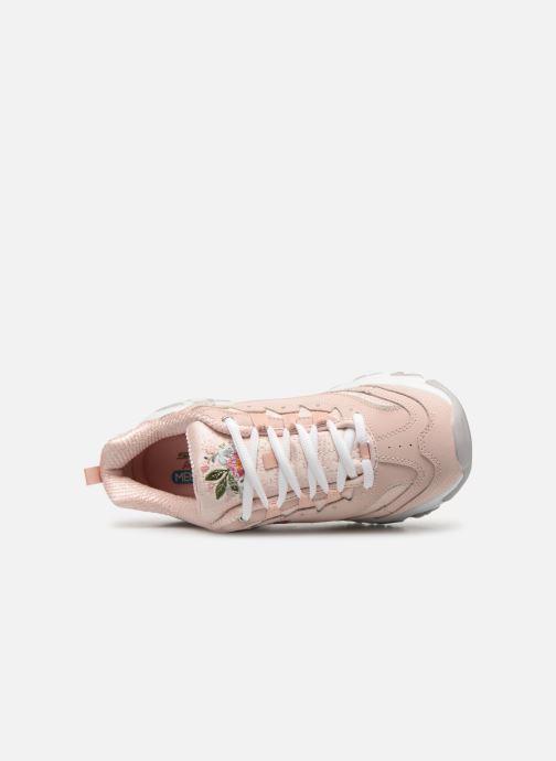 Sneakers Skechers D'Lites Bright Blossoms Rosa bild från vänster sidan