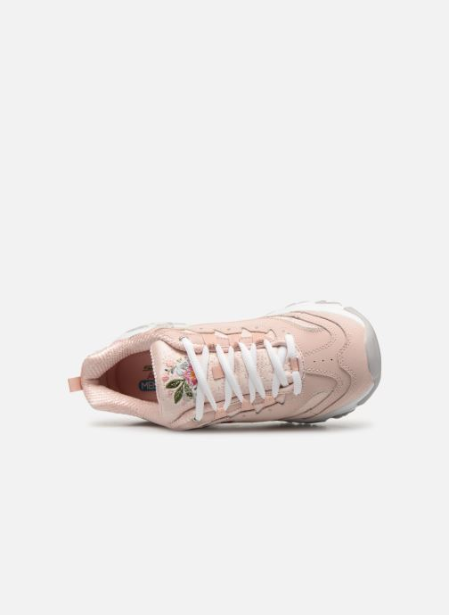 Sneakers Skechers D'Lites Bright Blossoms Rosa immagine sinistra