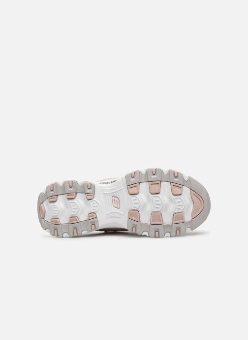 Sneakers Skechers D'Lites Bright Blossoms Rosa immagine dall'alto