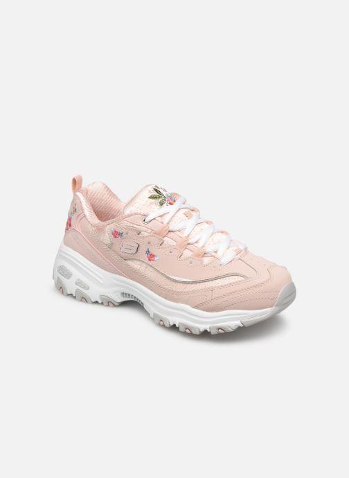 Sneakers Skechers D'Lites Bright Blossoms Rosa detaljerad bild på paret
