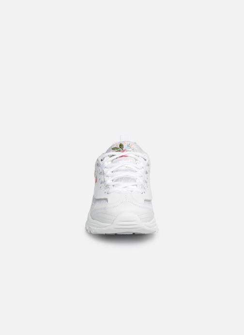 Sneaker Skechers D'Lites Bright Blossoms weiß schuhe getragen