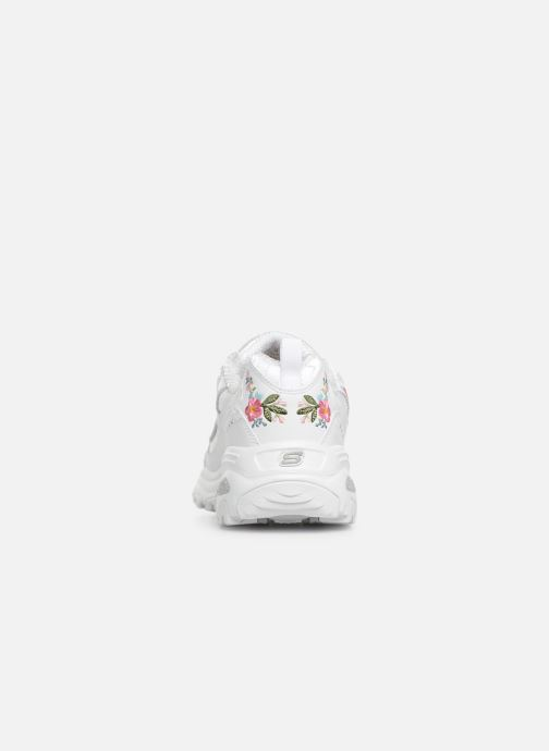 Baskets Skechers D'Lites Bright Blossoms Blanc vue droite