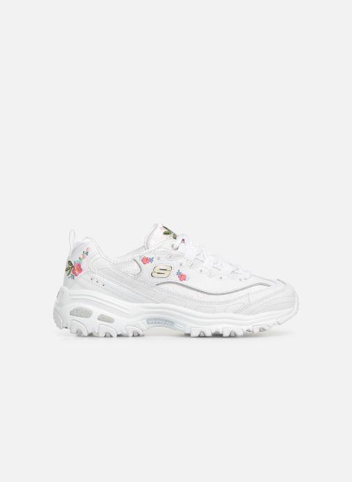 Sneaker Skechers D'Lites Bright Blossoms weiß ansicht von hinten