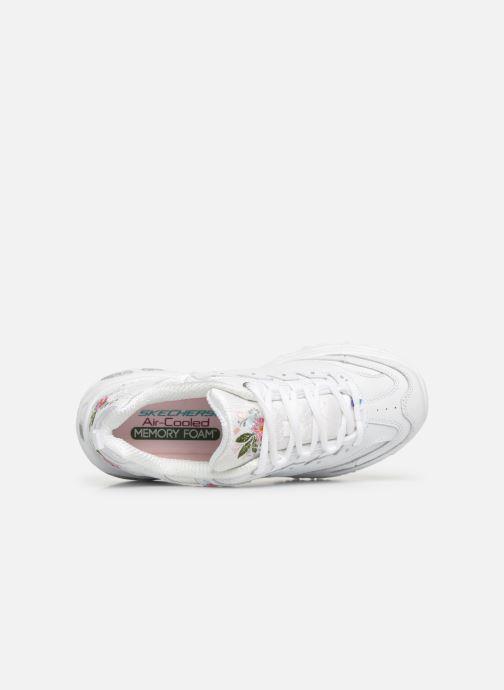 Sneaker Skechers D'Lites Bright Blossoms weiß ansicht von links