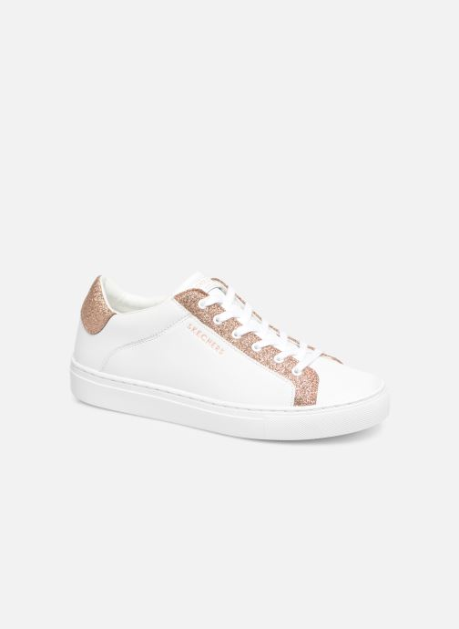 Trainers Skechers Side Street Glitz Kickz White detailed view/ Pair view