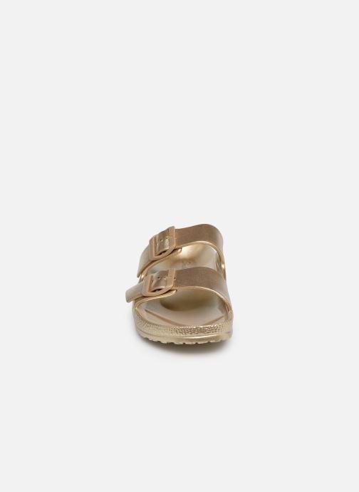 Mules et sabots Skechers Cali Breeze Glow Power Or et bronze vue portées chaussures
