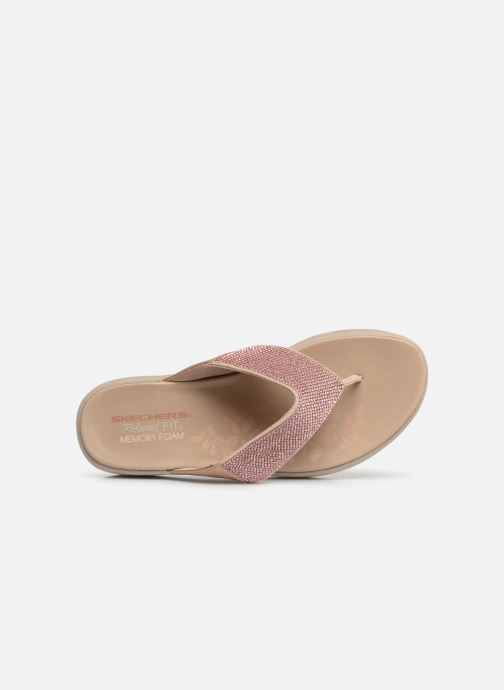 Clogs & Pantoletten Skechers Upgrades rosa ansicht von links