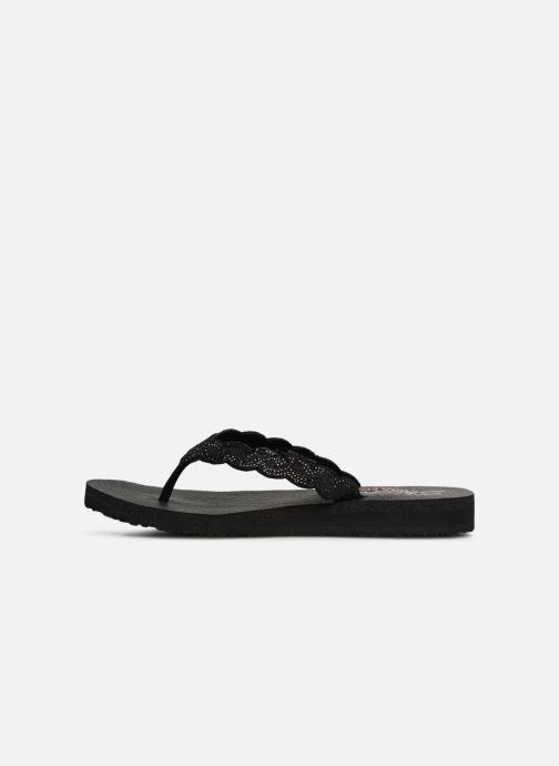 Slippers Skechers Meditation Glam Gladiator Zwart voorkant