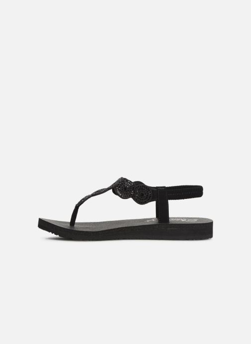 Sandals Skechers Mediatation Stars & Sparkle Black front view