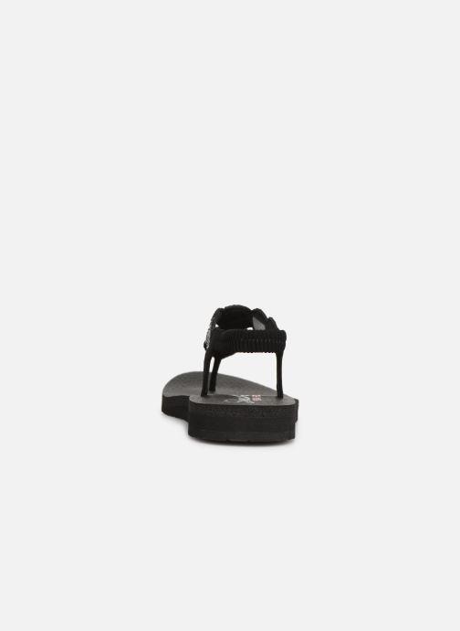 Sandalias Skechers Mediatation Stars & Sparkle Negro vista lateral derecha