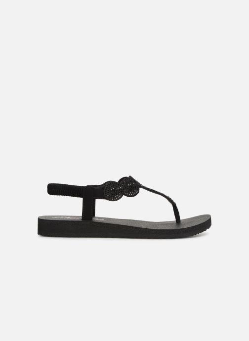 Sandals Skechers Mediatation Stars & Sparkle Black back view