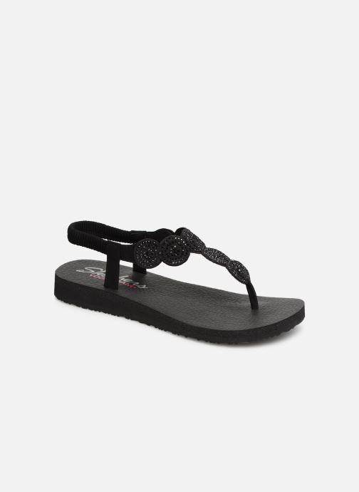 Sandals Skechers Mediatation Stars & Sparkle Black detailed view/ Pair view