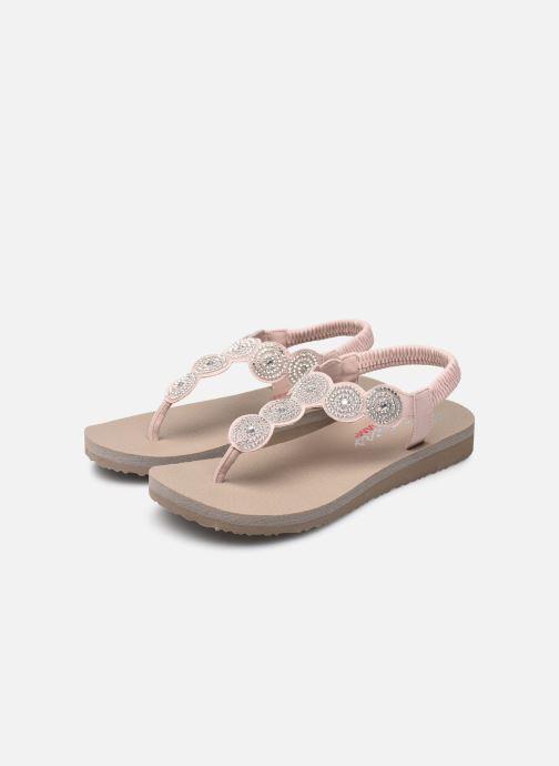 Sandalen Skechers Mediatation Stars & Sparkle rosa ansicht von unten / tasche getragen